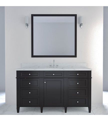 Image of Furnishmore Allentown 60 in Single Bathroom Vanity in Espresso with Mirror