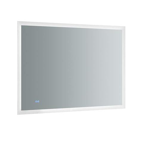 "Image of Fresca Angelo 48"" Wide x 36"" Tall Bathroom Mirror w/ Halo Style LED Lighting and Defogger"