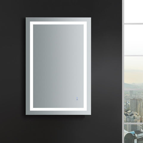 "Image of Fresca Santo 48"" Wide x 30"" Tall Bathroom Mirror w/ LED Lighting and Defogger"