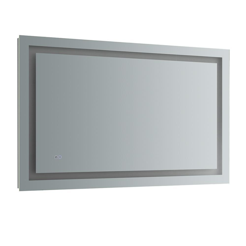 "Fresca Santo 48"" Wide x 30"" Tall Bathroom Mirror w/ LED Lighting and Defogger"