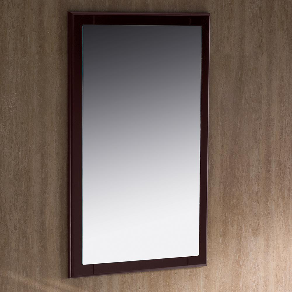 "Fresca Oxford 20"" Mahogany Mirror"