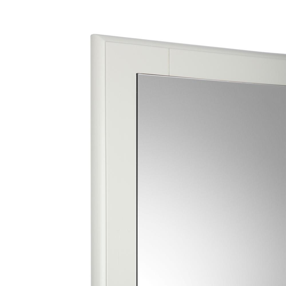 "Fresca Oxford 26"" Antique White Mirror"