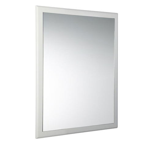 "Image of Fresca Oxford 26"" Antique White Mirror"