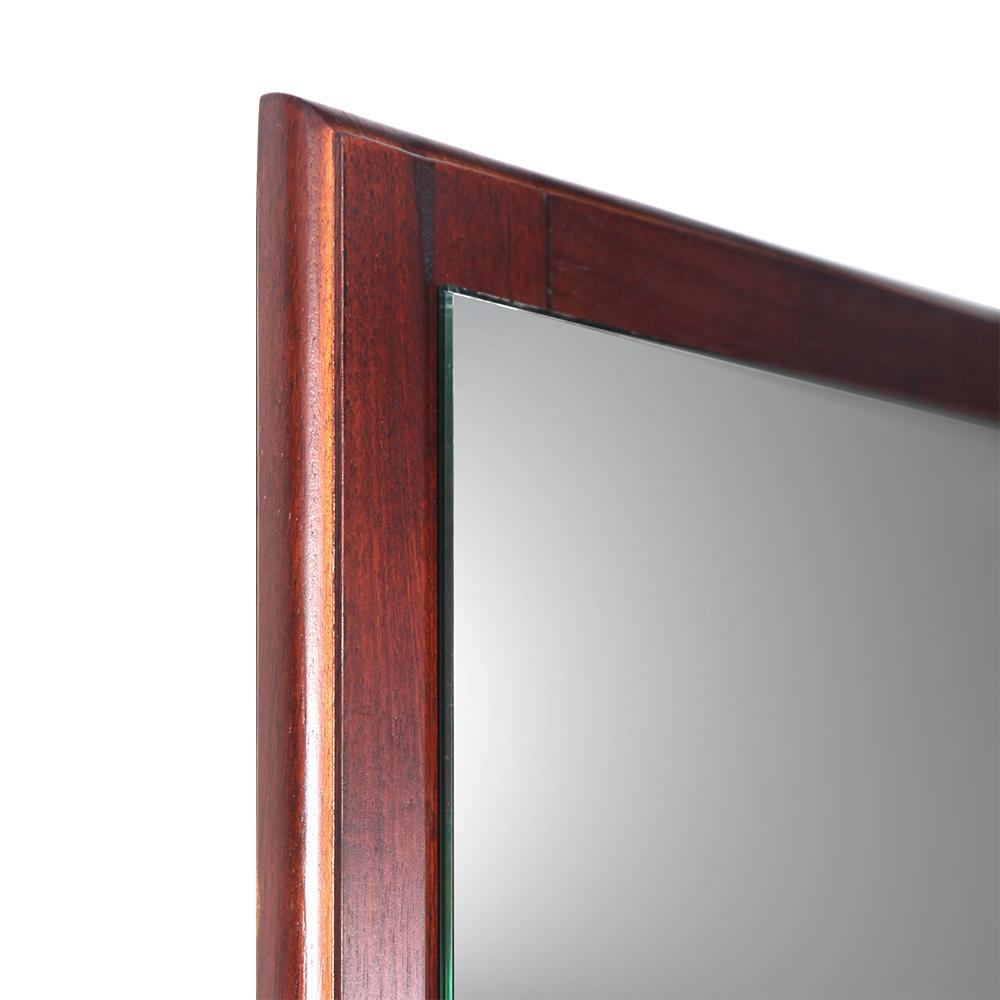 "Fresca Oxford 26"" Mahogany Mirror"