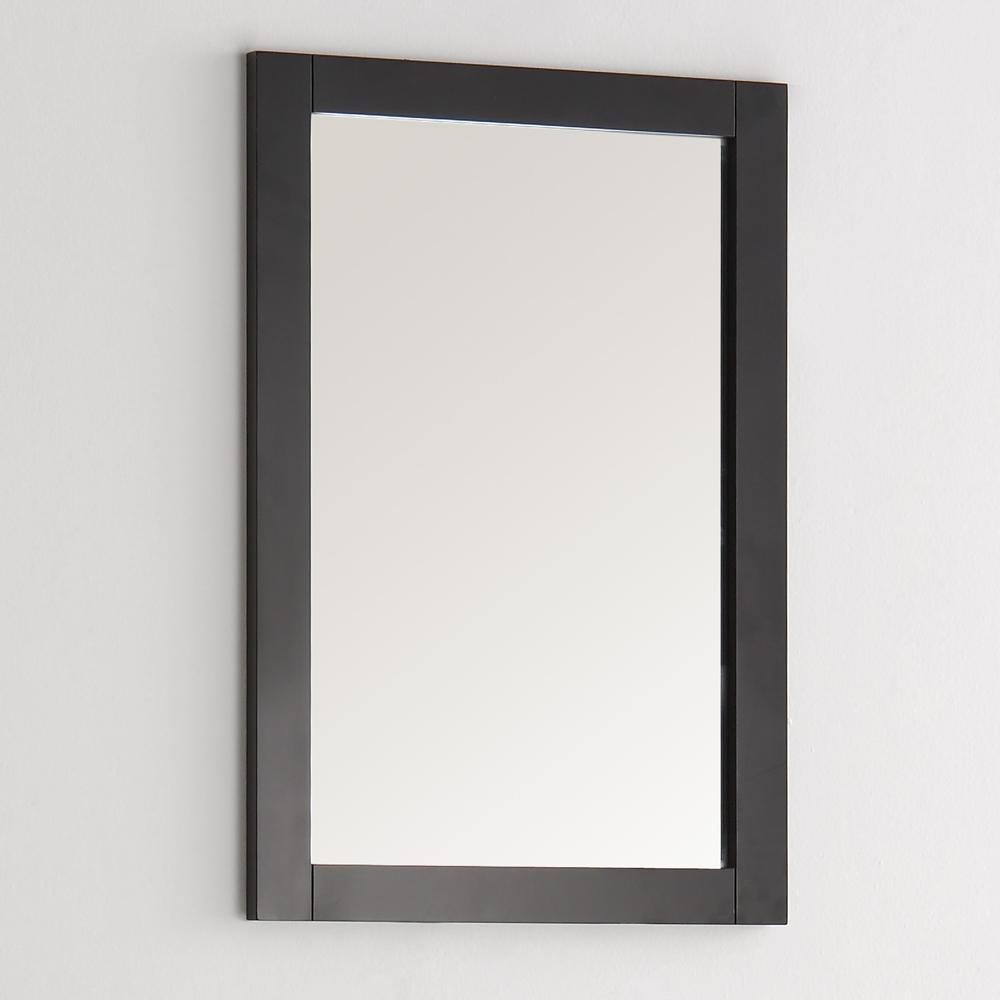 "Fresca Hartford 20"" Black Traditional Bathroom Mirror"