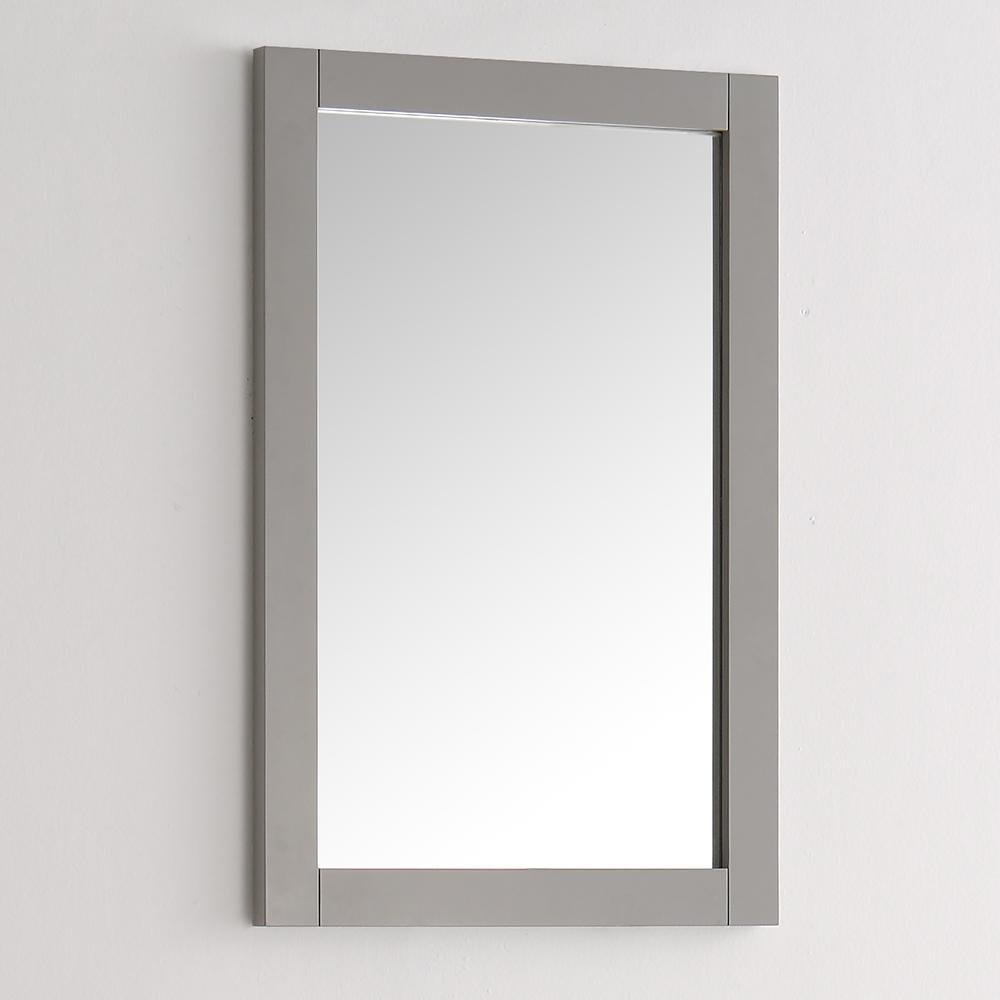 "Fresca Hartford 20"" Gray Traditional Bathroom Mirror"