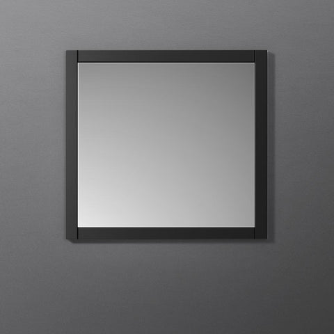 "Image of Fresca Manchester 30"" Black Traditional Bathroom Mirror"