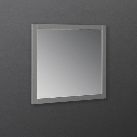 "Image of Fresca Manchester Regal 30"" Gray Wood Veneer Traditional Bathroom Mirror"