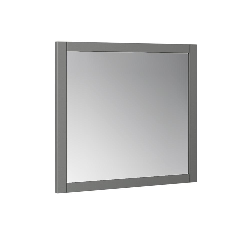 "Fresca Manchester Regal 30"" Gray Wood Veneer Traditional Bathroom Mirror"