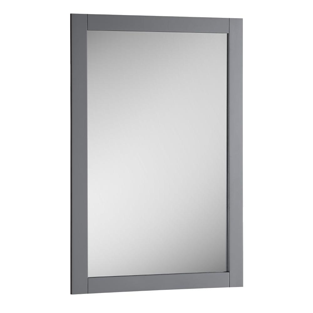 "Fresca Manchester 20"" Gray Traditional Bathroom Mirror"
