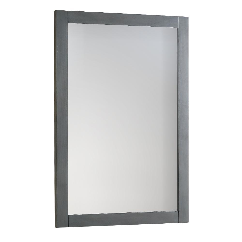 "Fresca Manchester Regal 20"" Gray Wood Veneer Traditional Bathroom Mirror"