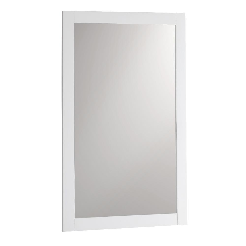 "Fresca Manchester 20"" White Traditional Bathroom Mirror"