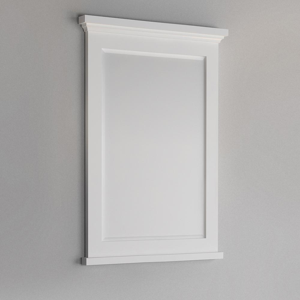 "Fresca Windsor 27"" Matte White Bathroom Mirror"