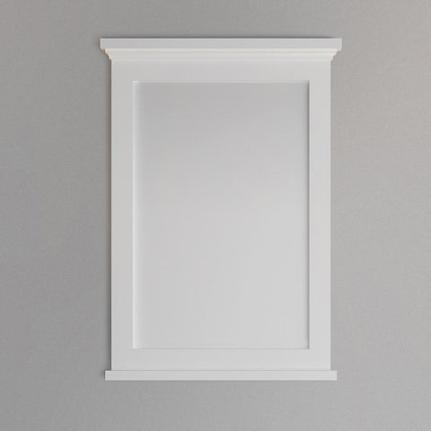 "Image of Fresca Windsor 27"" Matte White Bathroom Mirror"