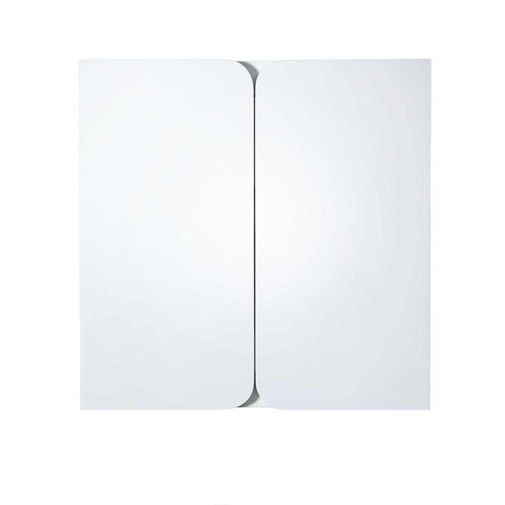 "Fresca Energia 48"" White Three Panel Folding Mirror"