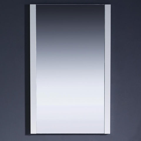 "Image of Fresca Torino 21"" White Mirror"