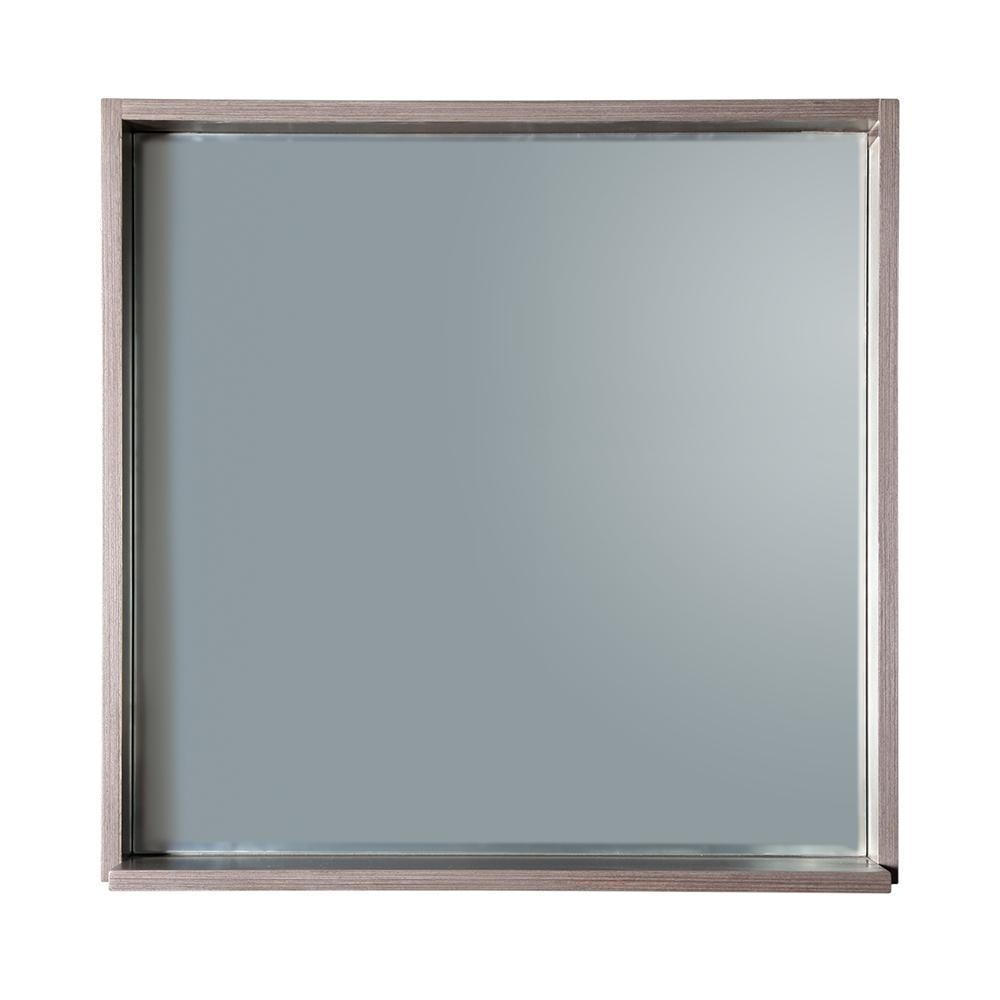 "Fresca Allier 30"" Gray Oak Mirror with Shelf"