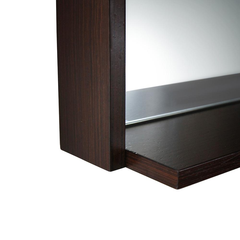 "Fresca Allier 30"" Wenge Mirror with Shelf"