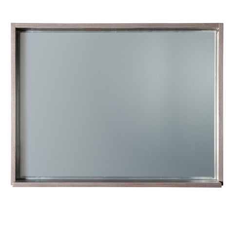 "Fresca Allier 36"" Gray Oak Mirror with Shelf"