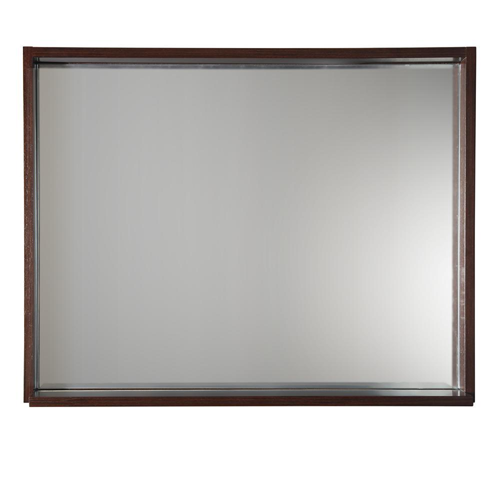 "Fresca Allier 36"" Wenge Mirror with Shelf"