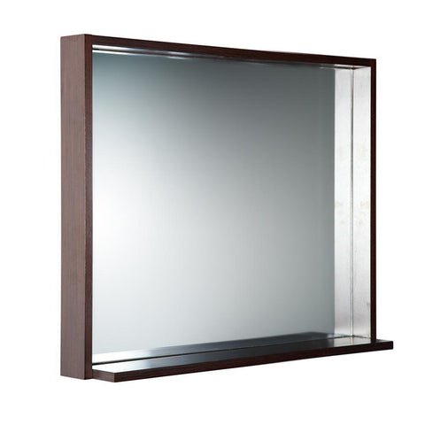"Image of Fresca Allier 36"" Wenge Mirror with Shelf"