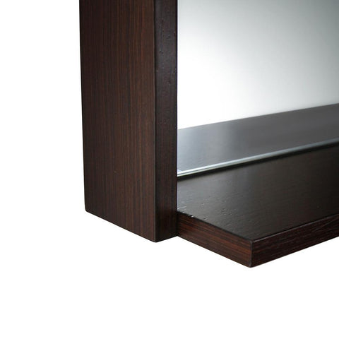 "Fresca Allier 40"" Wenge Mirror with Shelf"