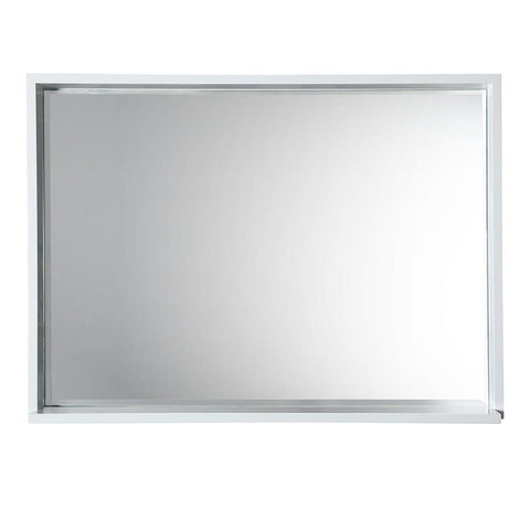 "Image of Fresca Allier 40"" white Mirror with Shelf"