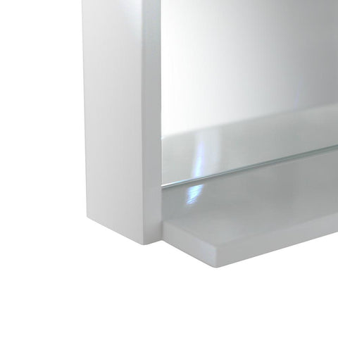 "Fresca Allier 40"" white Mirror with Shelf"