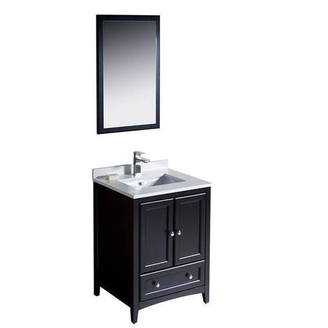 "Image of Fresca Oxford 24"" Espresso Traditional Bathroom Vanity"