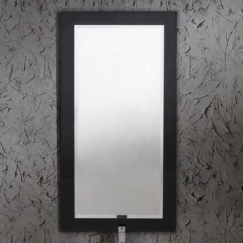 "Image of Fresca Moselle 35.63"" Modern Glass Bathroom Vanity w/ Mirror"