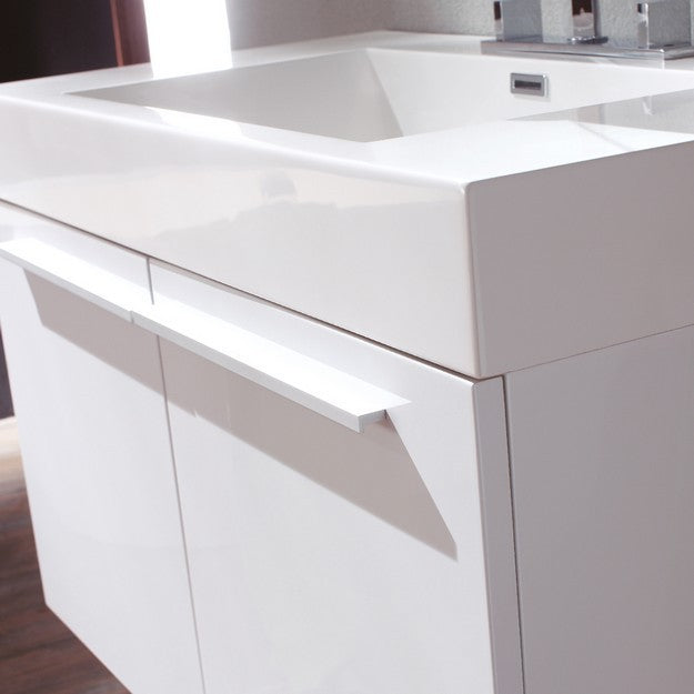 Fresca Vista 35.38 Inch White Modern Bathroom Vanity with Medicine Cabinet
