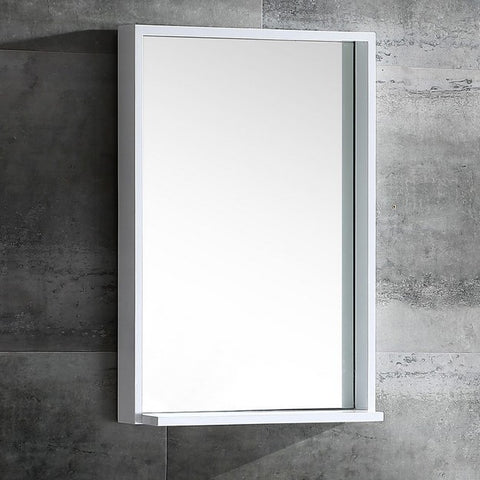 Fresca Allier 23.5 Inch White Modern Bathroom Vanity w/ Mirror
