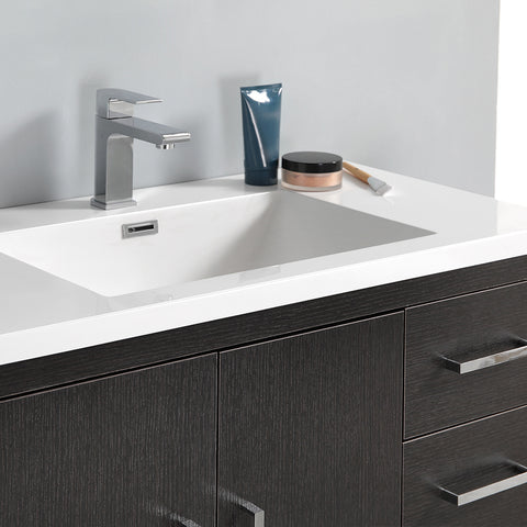 "Fresca Imperia 36"" Dark Gray Oak Free Standing Modern Bathroom Vanity w/ Medicine Cabinet - Right Version"