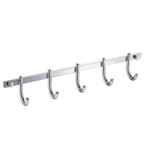 Fresca Curved Bathroom Hooks (x5) - Chrome - Bathroom Vanity Portal