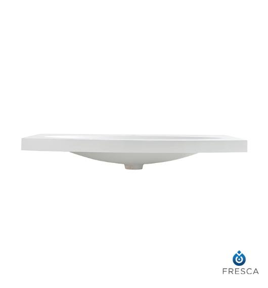 "Fresca Energia 36"" White Integrated Sink with Countertop"