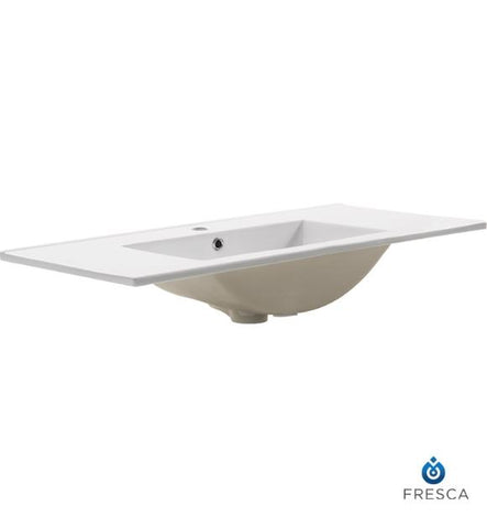 "Image of Fresca Torino 36"" White Integrated Sink / Countertop"