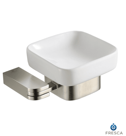 Fresca Solido Soap Dish - Brushed Nickel - Bathroom Vanity Portal