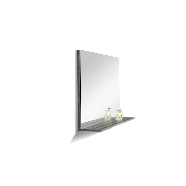 "Moreno MOA 24"" High Gloss Ash Grey Bathroom Vanity - Bathroom Vanity Portal"