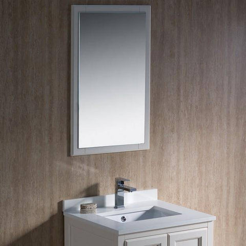 "Image of Fresca Oxford 24"" Antique White Traditional Bathroom Vanity - Bathroom Vanity Portal"