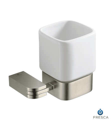 Fresca Solido Tumbler Holder - Brushed Nickel - Bathroom Vanity Portal