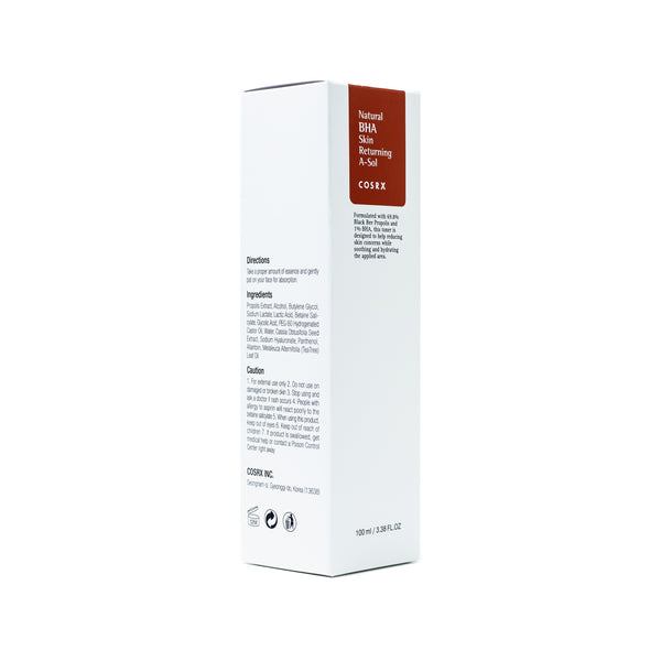 COSRX Natural BHA Skin Returning A-Sol Box Front