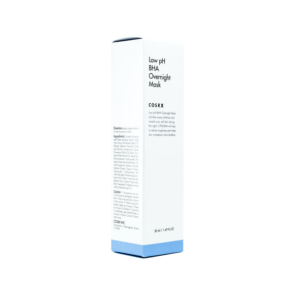 COSRX low pH BHA Overnight Mask Box Front