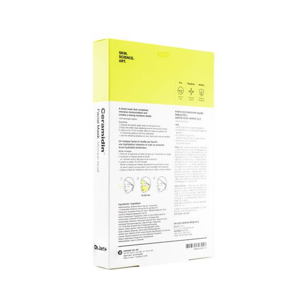 Dr Jart Ceramidin Facial Mask Box Back
