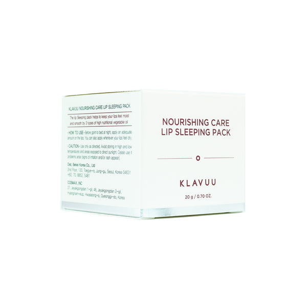 KLAVUU Nourishing Care Lip Sleeping Pack Box Front