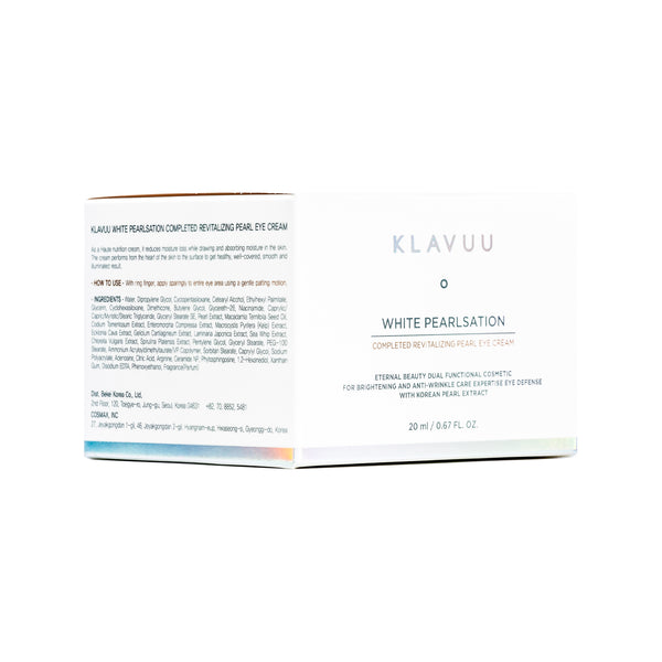 KLAVUU White Pearlsation Completed Revitalizing Pearl Eye Cream Box Front