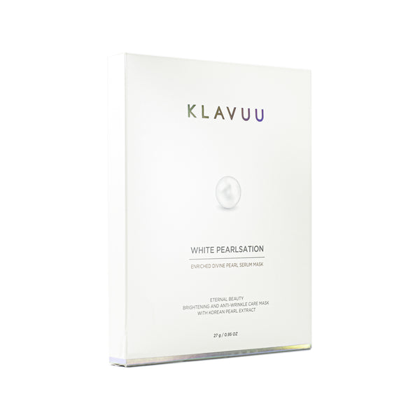 KLAVUU White Pearlsation Enriched Divine Pearl Serum Mask Box Front