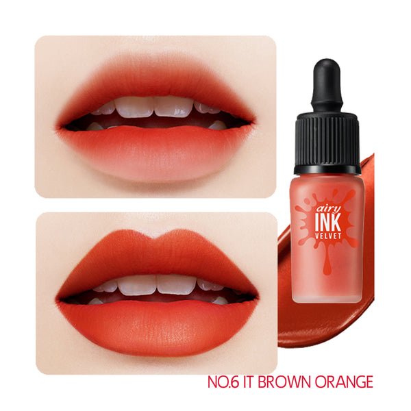 peripera Ink Airy Velvet 006 It Brown Orange