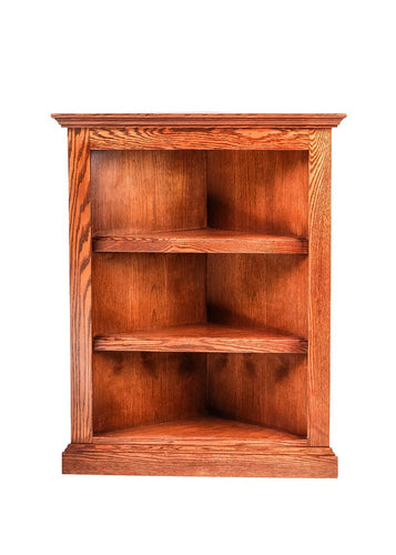 Traditional Corner Bookcase: 20 X 20 from Corner 30H