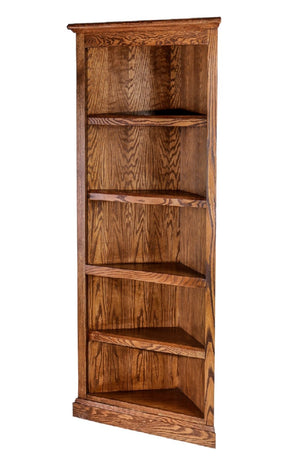 Harrisburg Corner Bookcase - Home Furniture Factory