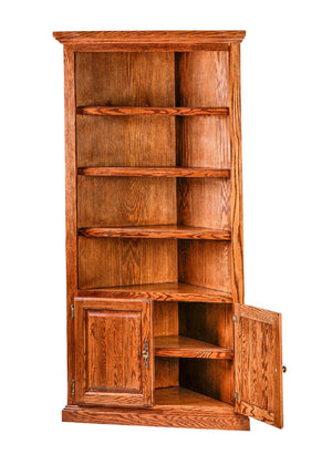 Topeka Corner Bookcase - Home Furniture Factory